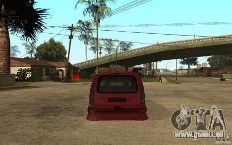 Renault Kangoo Tuning pour GTA San Andreas sur la vue arrière gauche