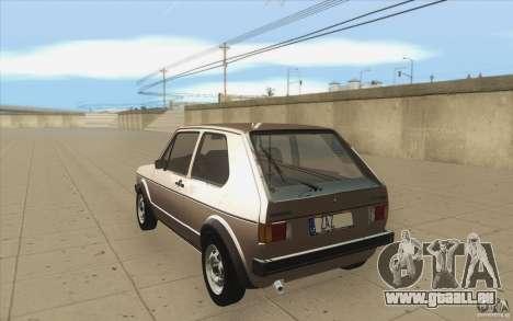 Volkswagen Golf Mk1 - Stock pour GTA San Andreas sur la vue arrière gauche