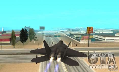 F-22 Black pour GTA San Andreas vue intérieure
