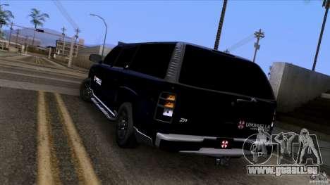 Chevrolet Suburban 2003 v2 für GTA San Andreas zurück linke Ansicht