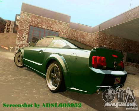 Ford Mustang GT 2005 Tunable pour GTA San Andreas vue intérieure
