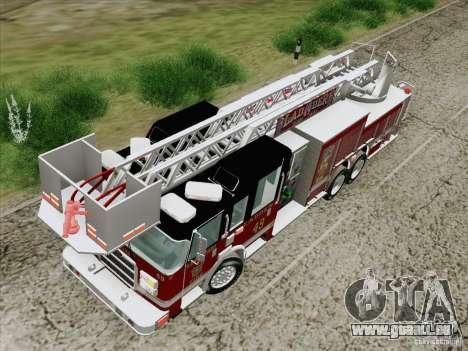 Pierce Rear Mount SFFD Ladder 49 pour GTA San Andreas vue intérieure