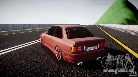 BMW E30 v8 pour GTA 4 Vue arrière de la gauche