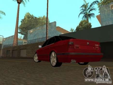 BMW 540i E34 für GTA San Andreas zurück linke Ansicht