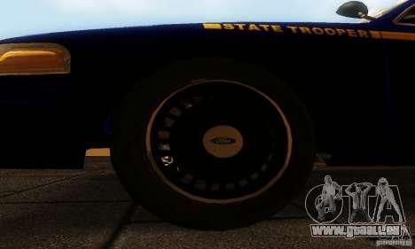 Ford Crown Victoria New York Police für GTA San Andreas rechten Ansicht
