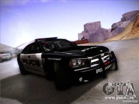 Dodge Charger RT Police Speed Enforcement für GTA San Andreas linke Ansicht