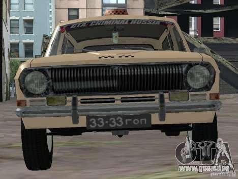 Volga GAZ-24 Taxi 02 pour GTA San Andreas vue de droite