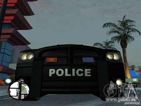 Dodge Charger Police für GTA San Andreas zurück linke Ansicht