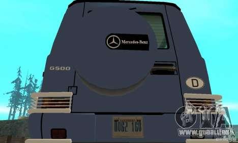 Mercedes-Benz G500 1999 Short [with kangoo v2] pour GTA San Andreas vue intérieure