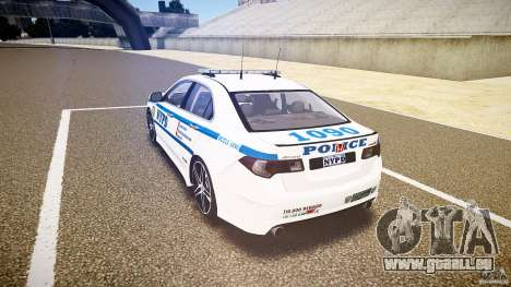 Honda Accord Type R NYPD (City Patrol 1090) ELS für GTA 4 hinten links Ansicht