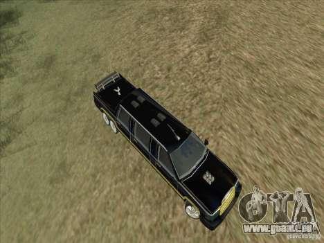 Limousine pour GTA San Andreas vue intérieure