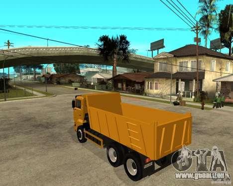 KAMAZ 6520 TAI pour GTA San Andreas laissé vue