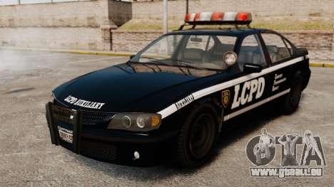 Nouvelle patrouille de Police pour GTA 4 Vue arrière