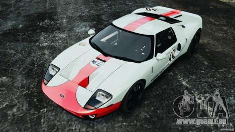 Ford GT 2005 v1.0 pour GTA 4 est une vue de dessous