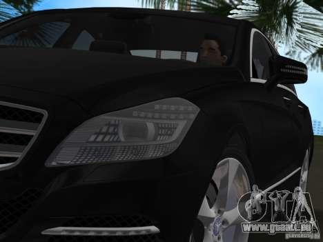 Mercedes-Benz CLS350 pour GTA Vice City sur la vue arrière gauche