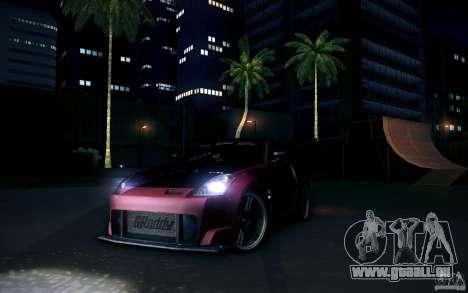 Nissan 350Z Fairlady pour GTA San Andreas vue arrière