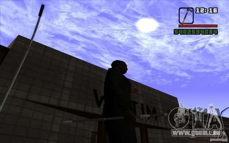 Nouvelle canne pour GTA San Andreas quatrième écran