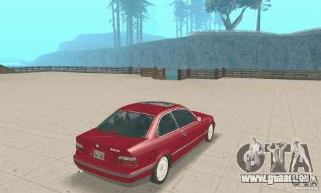 BMW 325i Coupe pour GTA San Andreas laissé vue