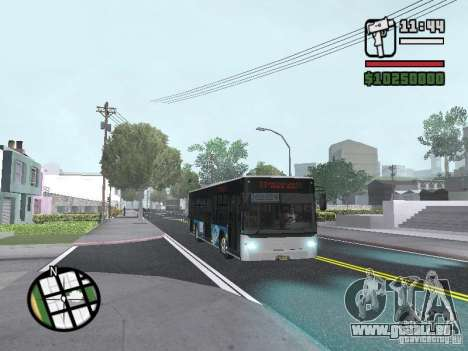 CityLAZ 12 LF pour GTA San Andreas vue de côté