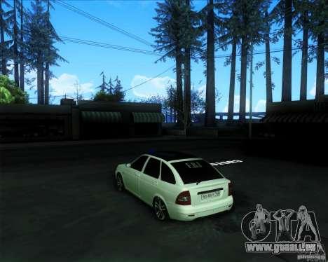 LADA PRIORA 2172 pour GTA San Andreas laissé vue