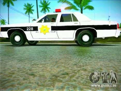 Ford Crown Victoria LTD 1991 HILL-VALLEY Police pour GTA San Andreas laissé vue
