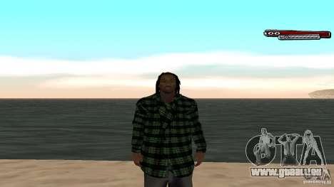 New skin Grove HD pour GTA San Andreas cinquième écran