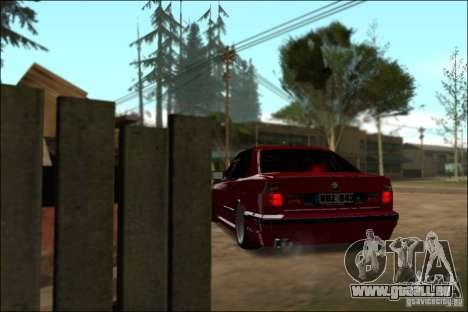BMW M5 E34 Street pour GTA San Andreas vue arrière