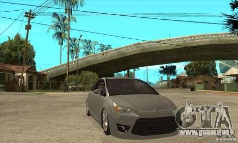 Citroen C4 VTS Coupe 2009 pour GTA San Andreas vue arrière