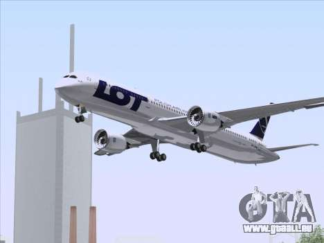 Boeing 787-9 LOT Polish Airlines für GTA San Andreas obere Ansicht