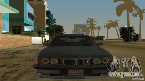 BMW 540i e34 1992 für GTA Vice City zurück linke Ansicht