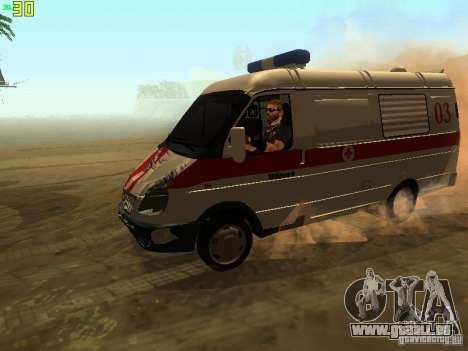 Gazelle 32214 Ambulance pour GTA San Andreas vue de côté