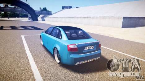 Audi S4 Custom pour GTA 4 Vue arrière de la gauche
