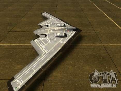 B2 Spirit für GTA San Andreas linke Ansicht