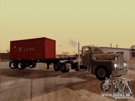 Mack B 61 für GTA San Andreas Rückansicht