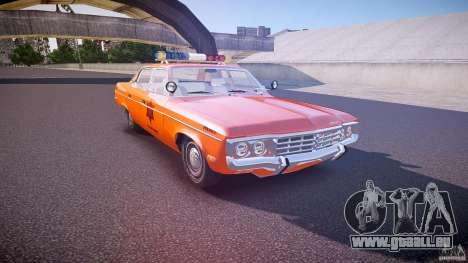 AMC Matador Hazzard County Sheriff [ELS] pour GTA 4 est une vue de l'intérieur