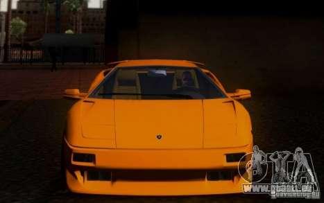 Lamborghini Diablo VTTT Black Revel pour GTA San Andreas vue intérieure