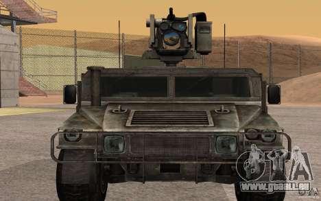 Hummer H1 from Battlefield 3 pour GTA San Andreas sur la vue arrière gauche
