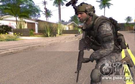 Le caporal Dunn pour GTA San Andreas deuxième écran
