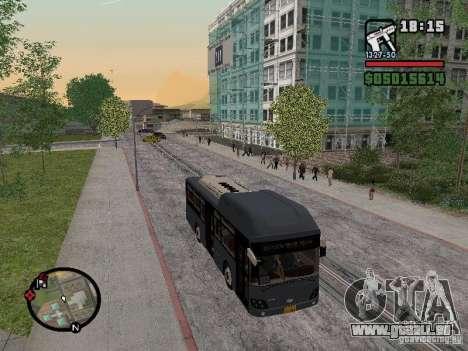 Daewoo BS110CN für GTA San Andreas zurück linke Ansicht