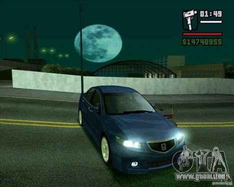 Honda Accord Type-S pour GTA San Andreas sur la vue arrière gauche