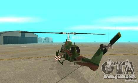 AH-1 super cobra pour GTA San Andreas vue de droite