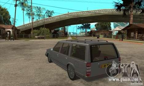 Volvo 945 Wentworth R pour GTA San Andreas sur la vue arrière gauche