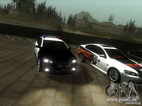 Pontiac G8 Police für GTA San Andreas Rückansicht