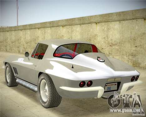 Chevrolet Corvette Stingray pour GTA San Andreas laissé vue