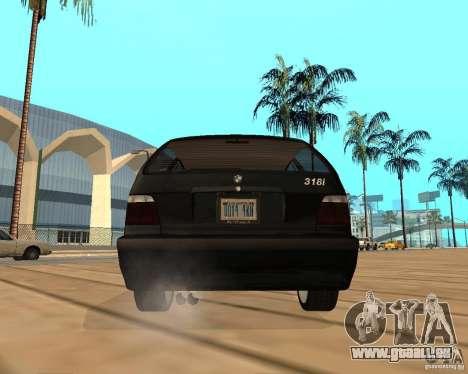 BMW 318i Touring pour GTA San Andreas vue intérieure