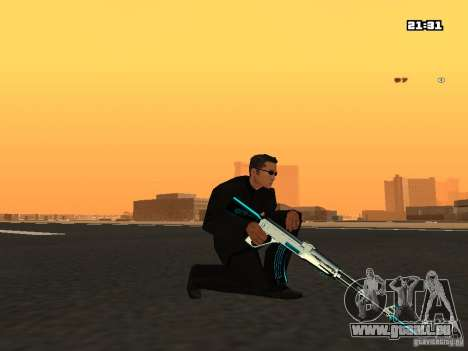 Blue Weapon Pack pour GTA San Andreas troisième écran