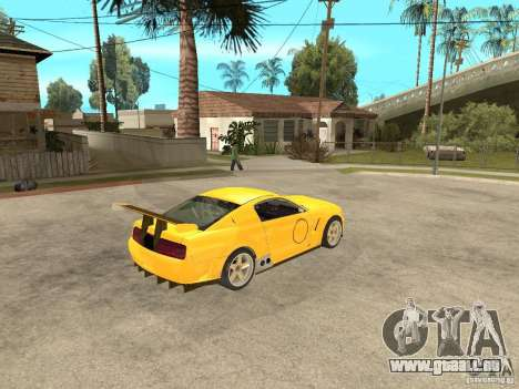 Ford Mustang GT-R pour GTA San Andreas vue de droite