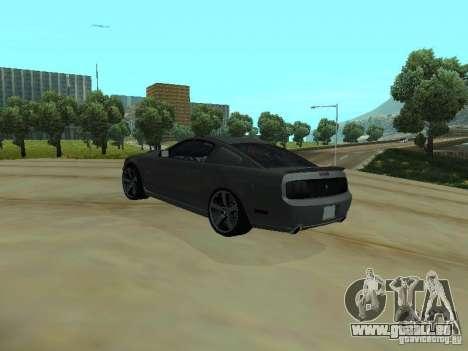Ford Mustang GTS für GTA San Andreas zurück linke Ansicht
