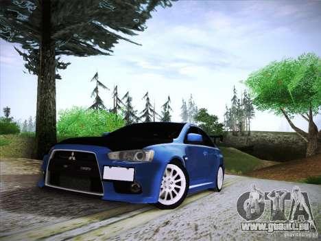 Mitsubishi Lancer Evolution Drift Edition für GTA San Andreas Rückansicht