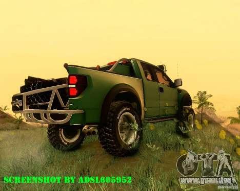 Ford F150 2011 SVT RapTor pour GTA San Andreas laissé vue